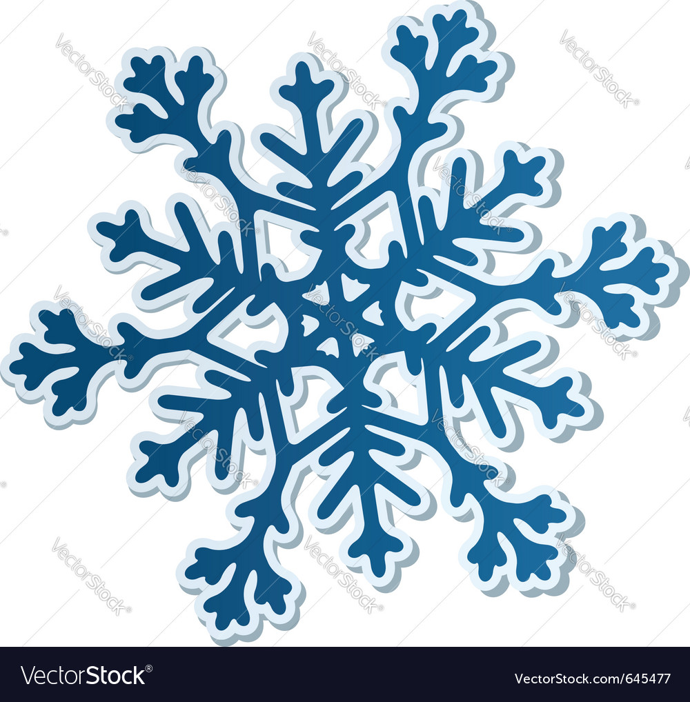 Paper snowflake vector | Price: 1 Credit (USD $1)