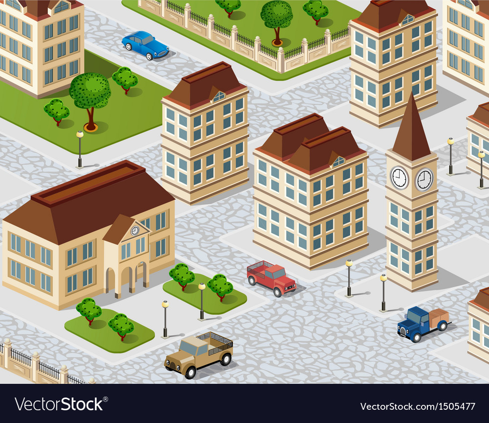 Urban view vector | Price: 1 Credit (USD $1)