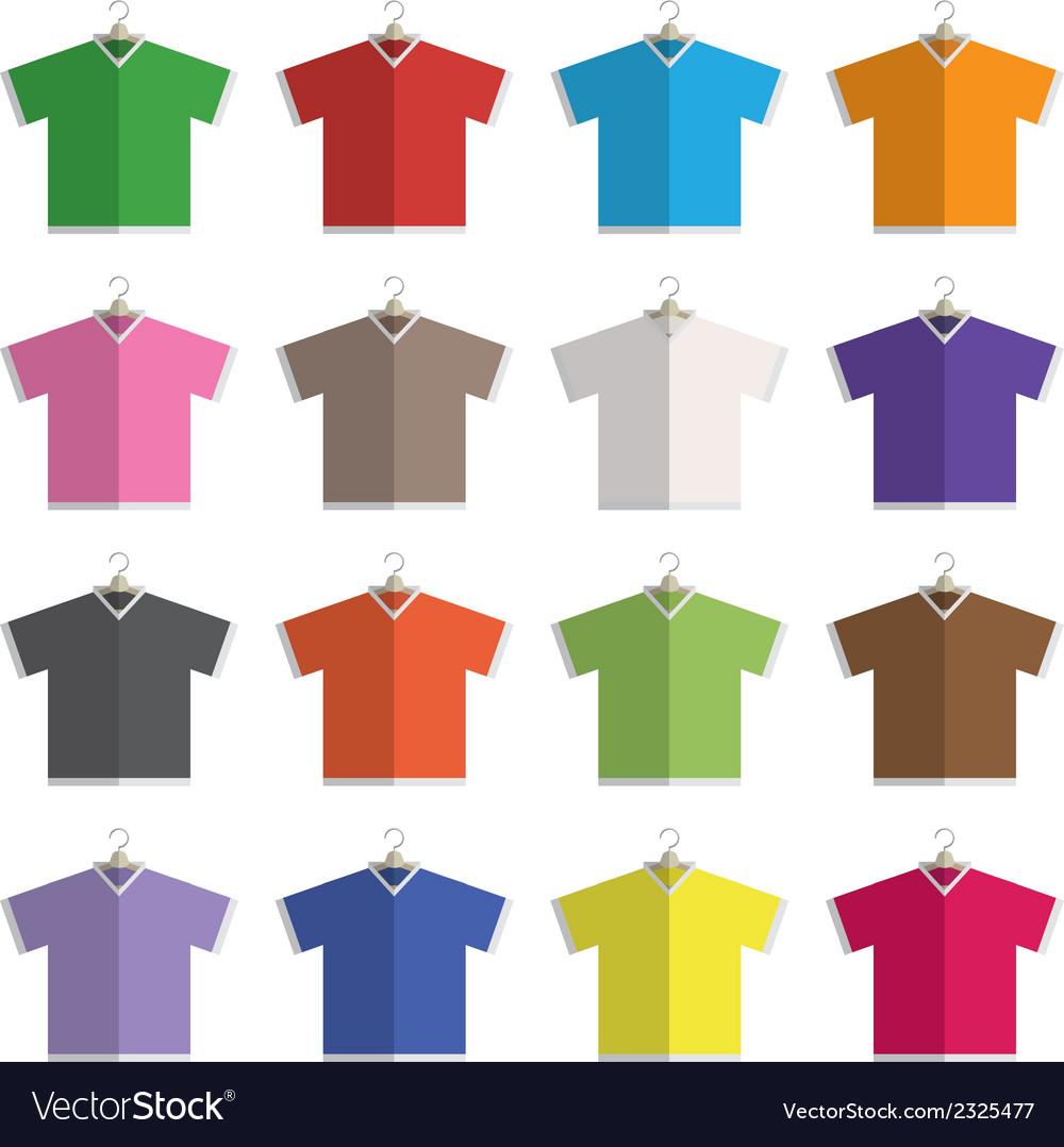 V neck t-shirts vector | Price: 1 Credit (USD $1)