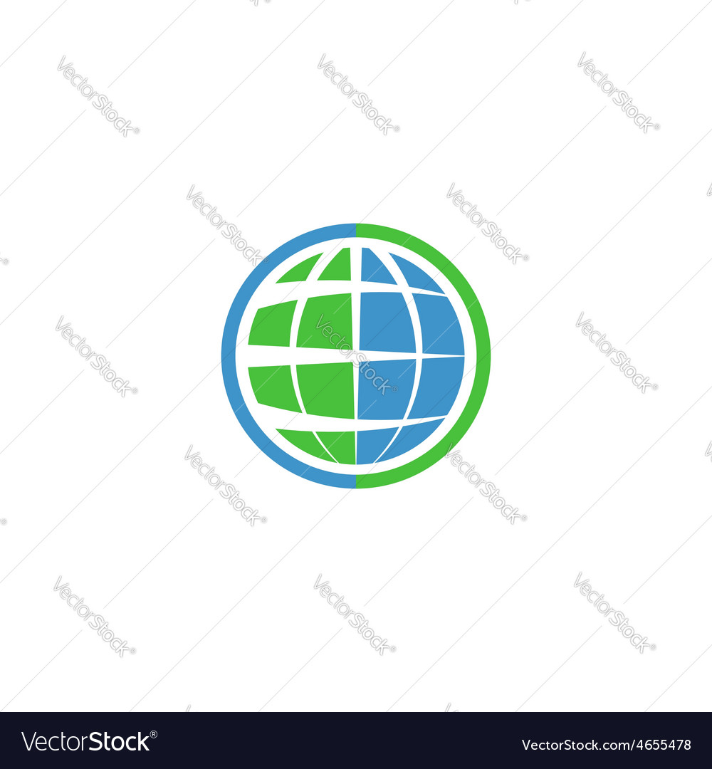 Ecology globe logo green technology graphic sing vector | Price: 1 Credit (USD $1)