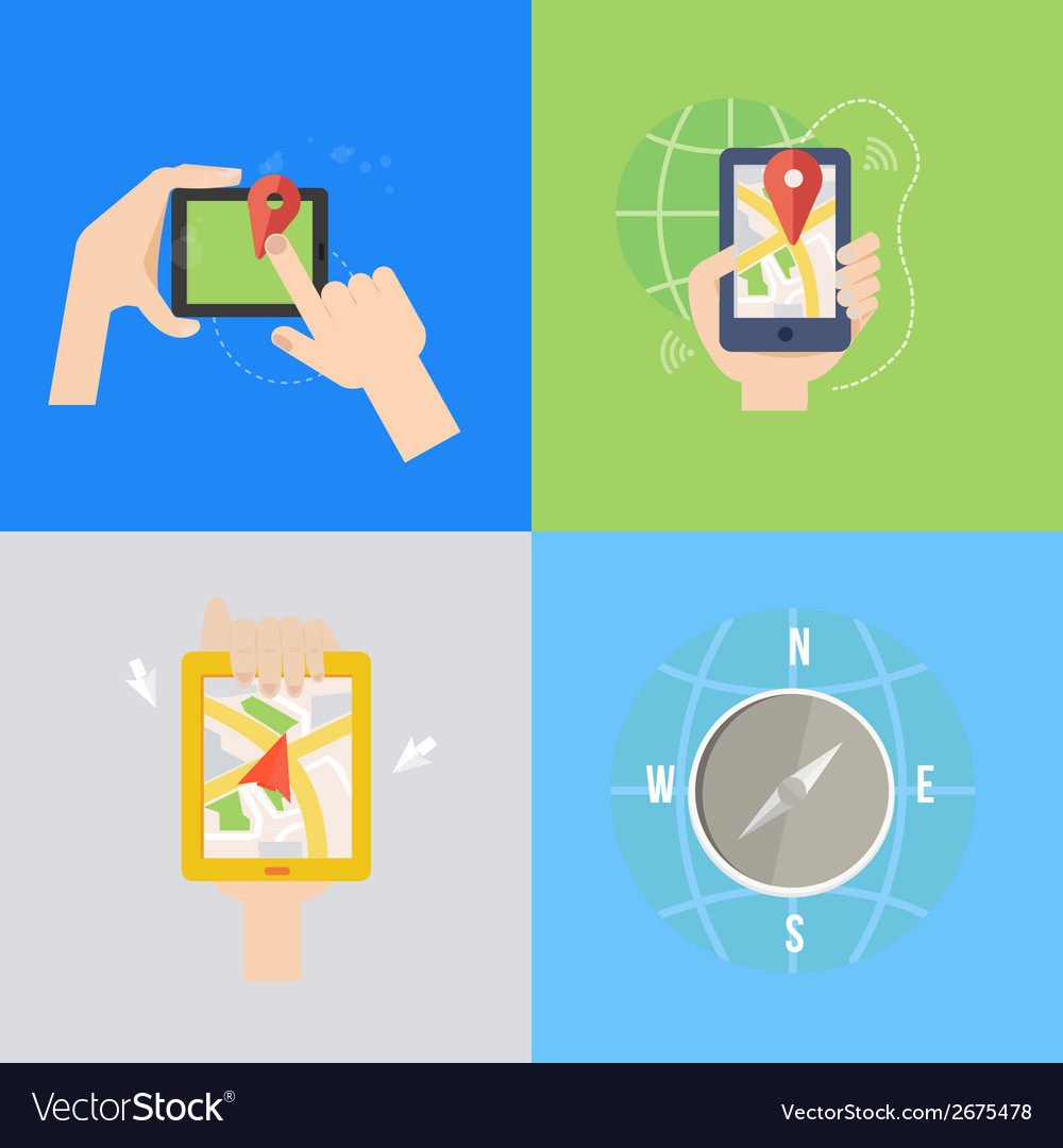 Element of gps navigation concept icon in flat vector | Price: 1 Credit (USD $1)