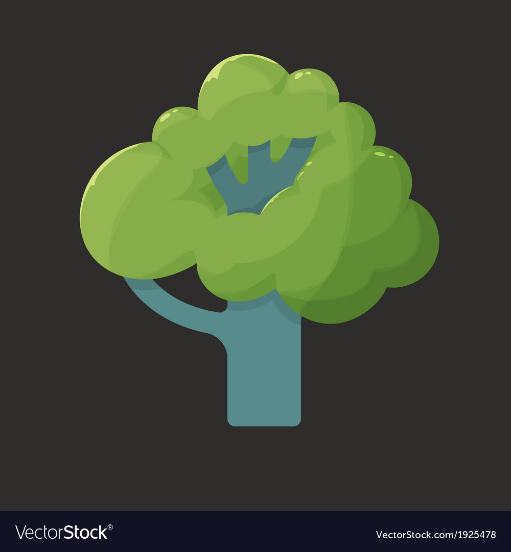 Flat icon of a tree in summer vector | Price: 1 Credit (USD $1)