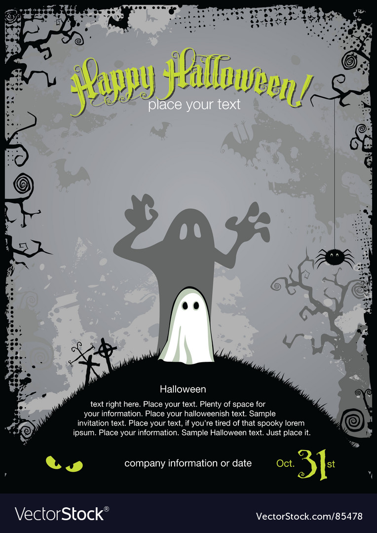 Halloween party invitation vector | Price: 1 Credit (USD $1)