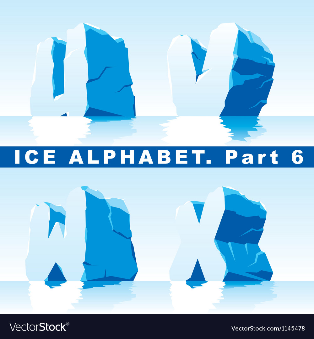Ice alpfabet part 6 vector | Price: 1 Credit (USD $1)