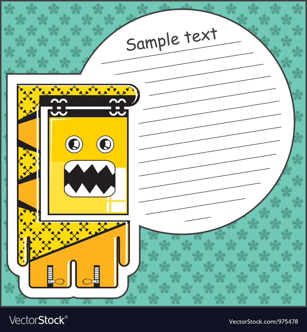 Monster with message cloud vector | Price: 1 Credit (USD $1)
