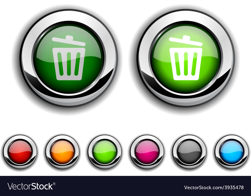 Recycle bin button vector | Price: 1 Credit (USD $1)