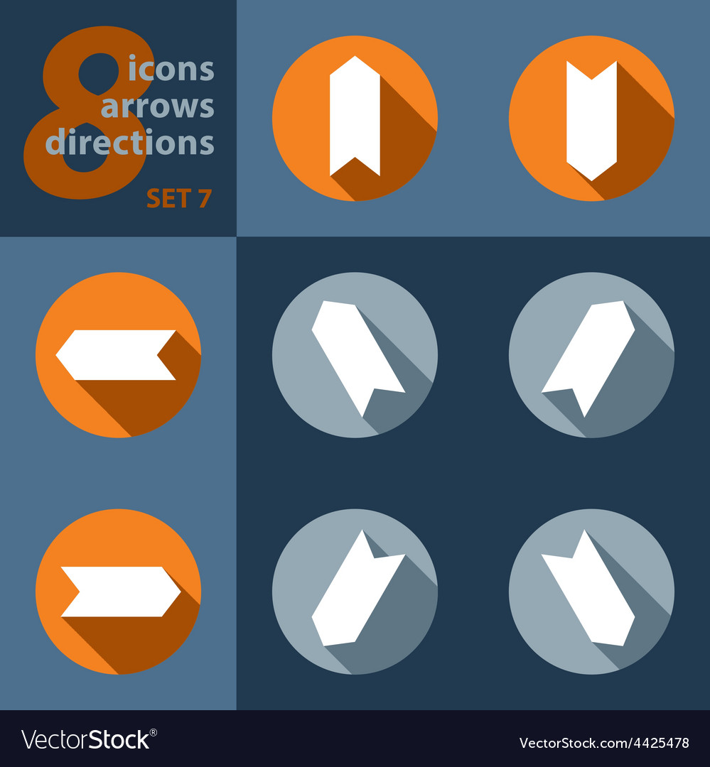 Set of eight icons with arrows in all eight vector | Price: 1 Credit (USD $1)