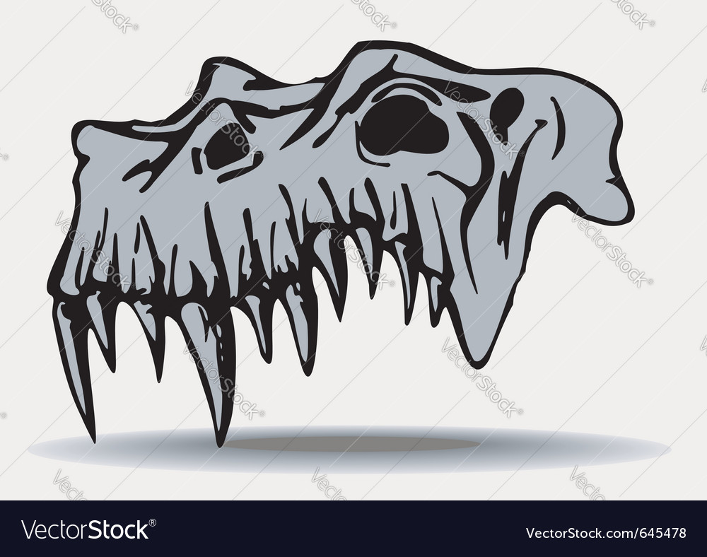 Skull of demon vector | Price: 1 Credit (USD $1)