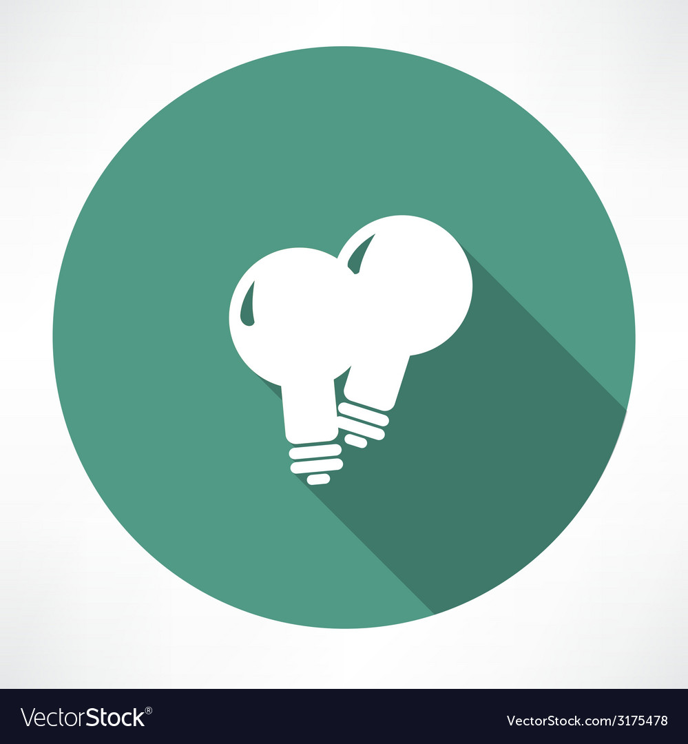 Two lamp icon vector | Price: 1 Credit (USD $1)