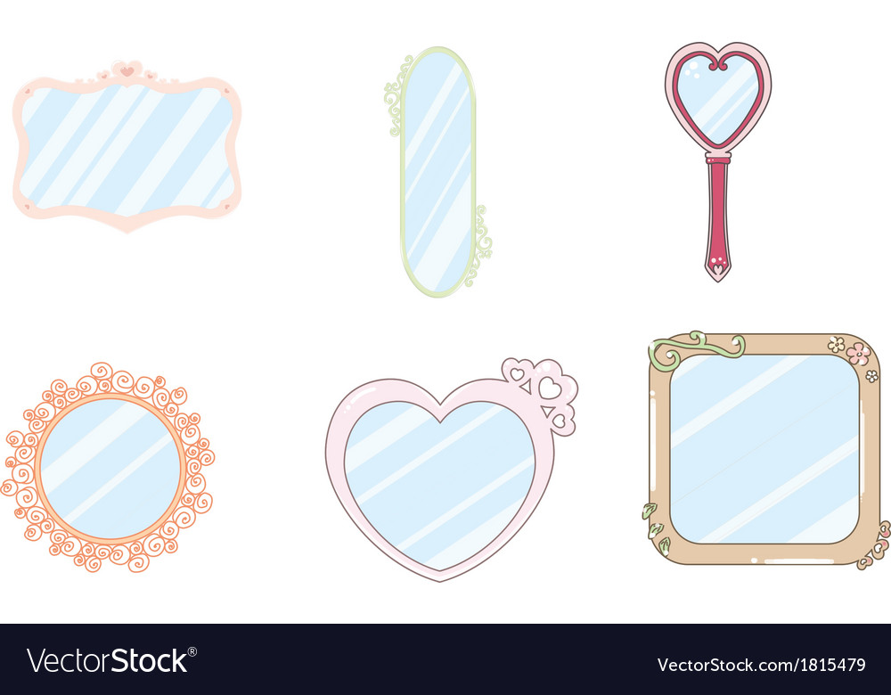 6 cute kawaii mirror vector | Price: 1 Credit (USD $1)