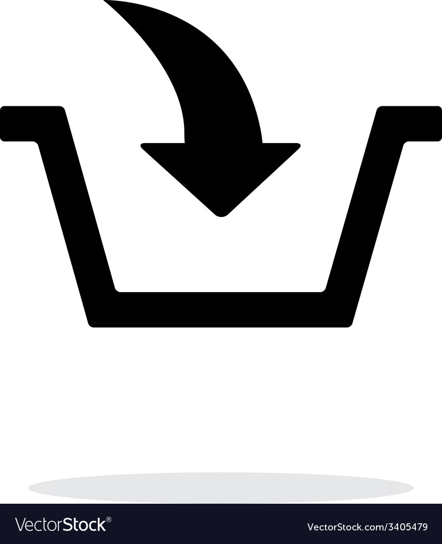 Add to basket simple icon on white background vector | Price: 1 Credit (USD $1)