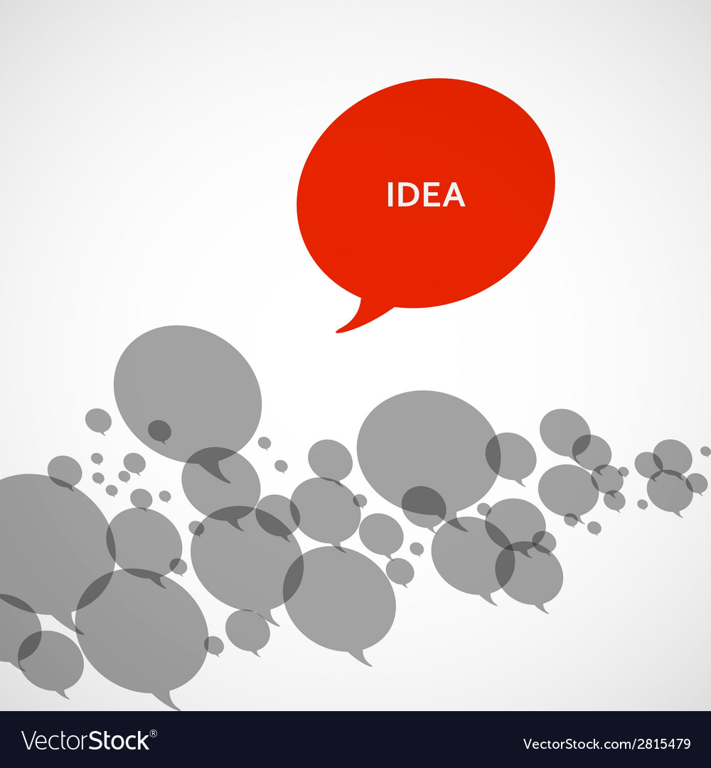 Creative background of colorful speech bubbles eps vector   Price: 1 Credit (USD $1)