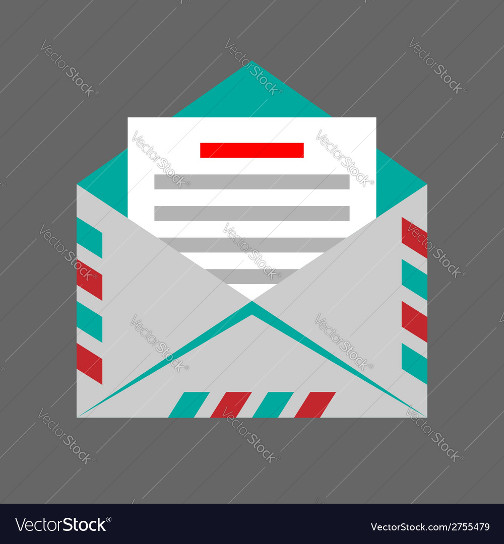 Envelope on gray background vector | Price: 1 Credit (USD $1)