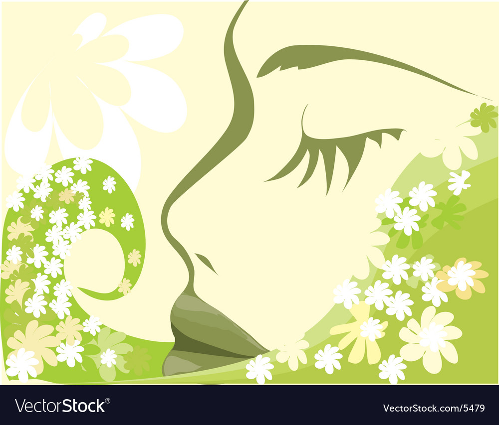 The girl-chamomile vector | Price: 1 Credit (USD $1)