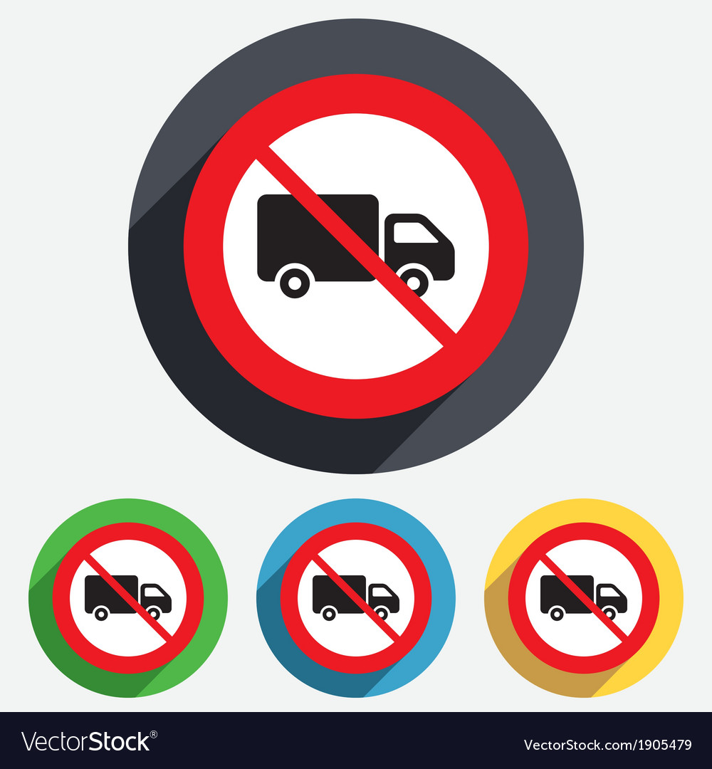 No delivery truck sign icon cargo van symbol vector | Price: 1 Credit (USD $1)