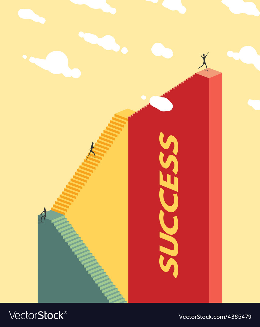 People climb the stairs success concept vector | Price: 1 Credit (USD $1)