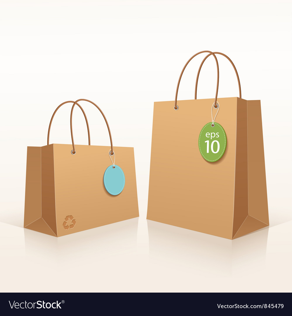 Recycle shopping brown bag vector | Price: 1 Credit (USD $1)