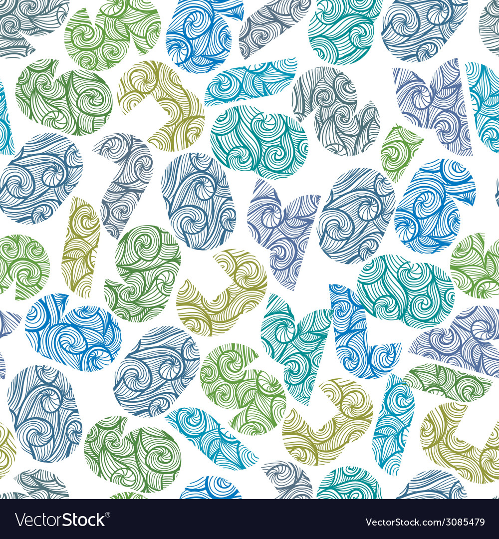 Seamless pattern with modern shape numbers vector | Price: 1 Credit (USD $1)