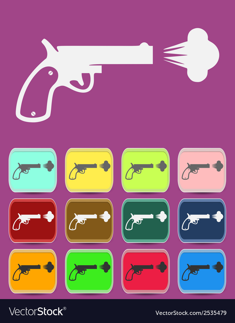 Shot from a revolver icon vector | Price: 1 Credit (USD $1)