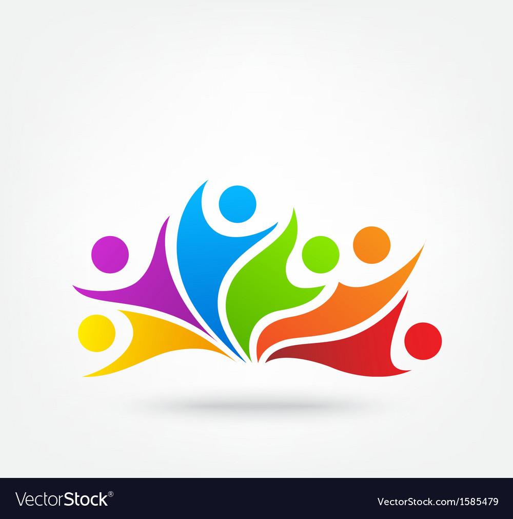 Teamwork icon vector | Price: 1 Credit (USD $1)