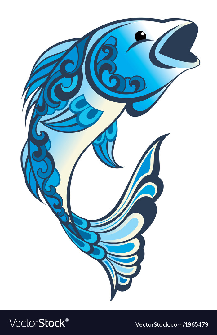 Water fish vector | Price: 1 Credit (USD $1)