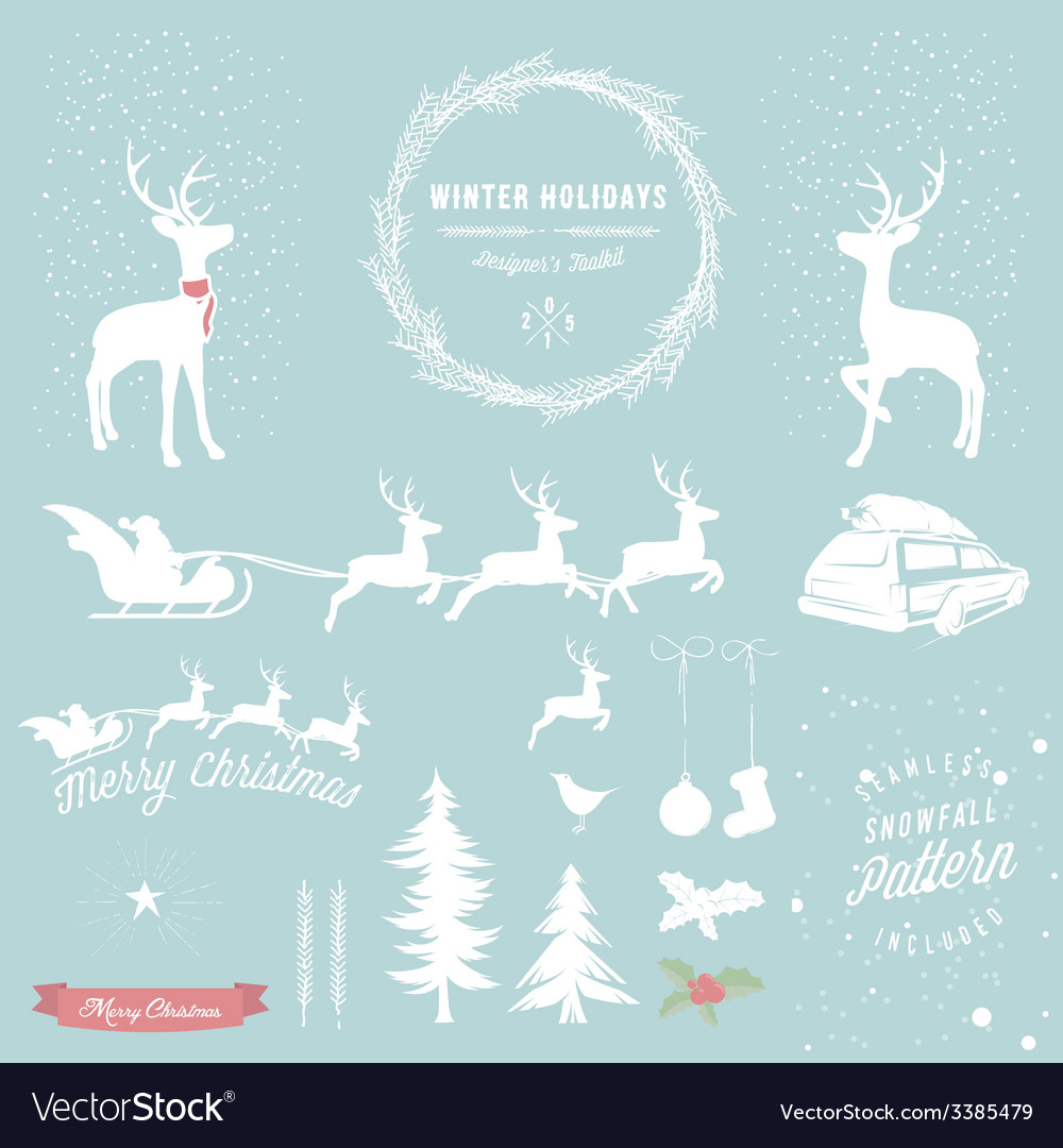 Winter holidays designers toolkit vector | Price: 1 Credit (USD $1)