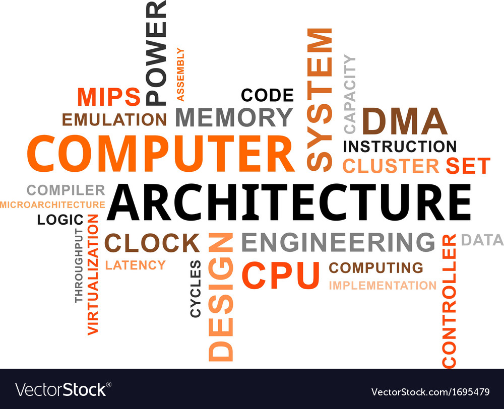 Word cloud computer architecture vector | Price: 1 Credit (USD $1)