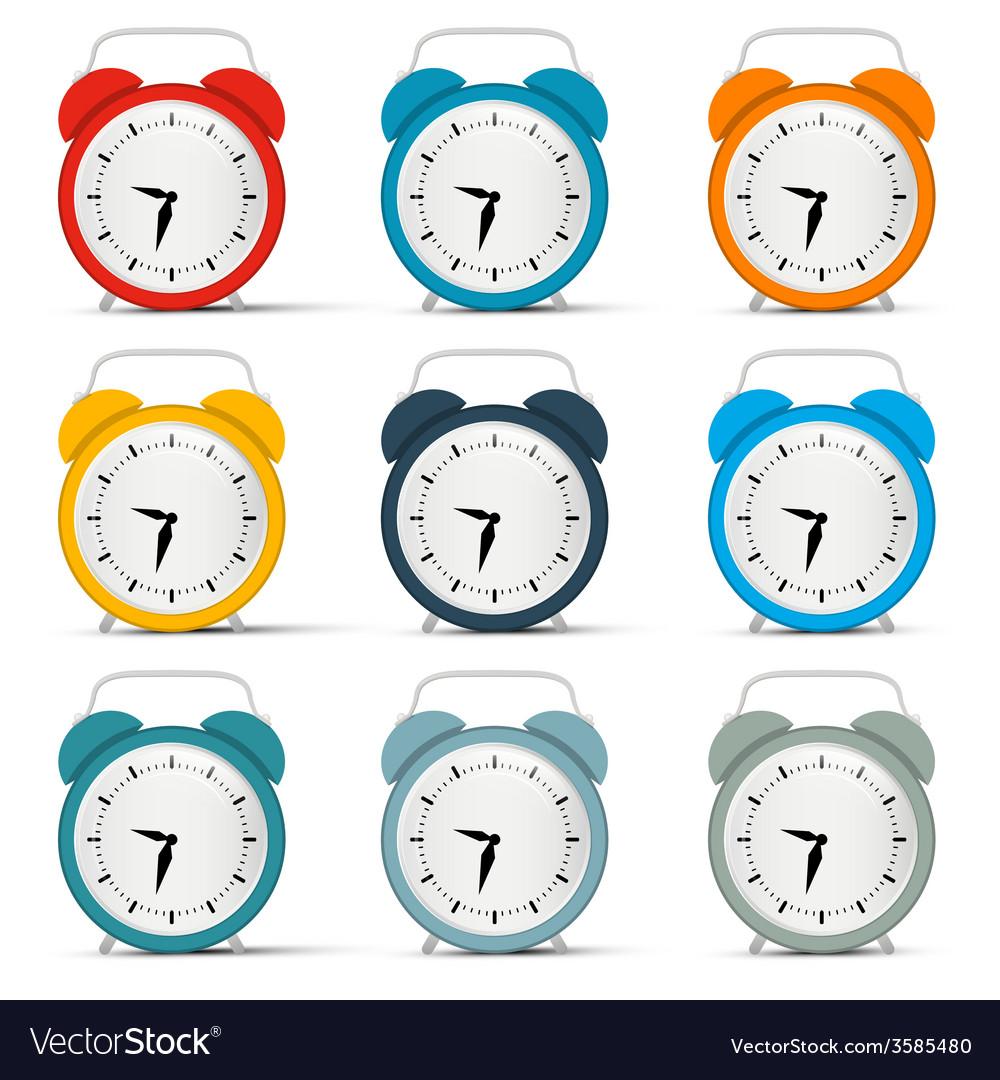 Alarm clock set vector   Price: 1 Credit (USD $1)