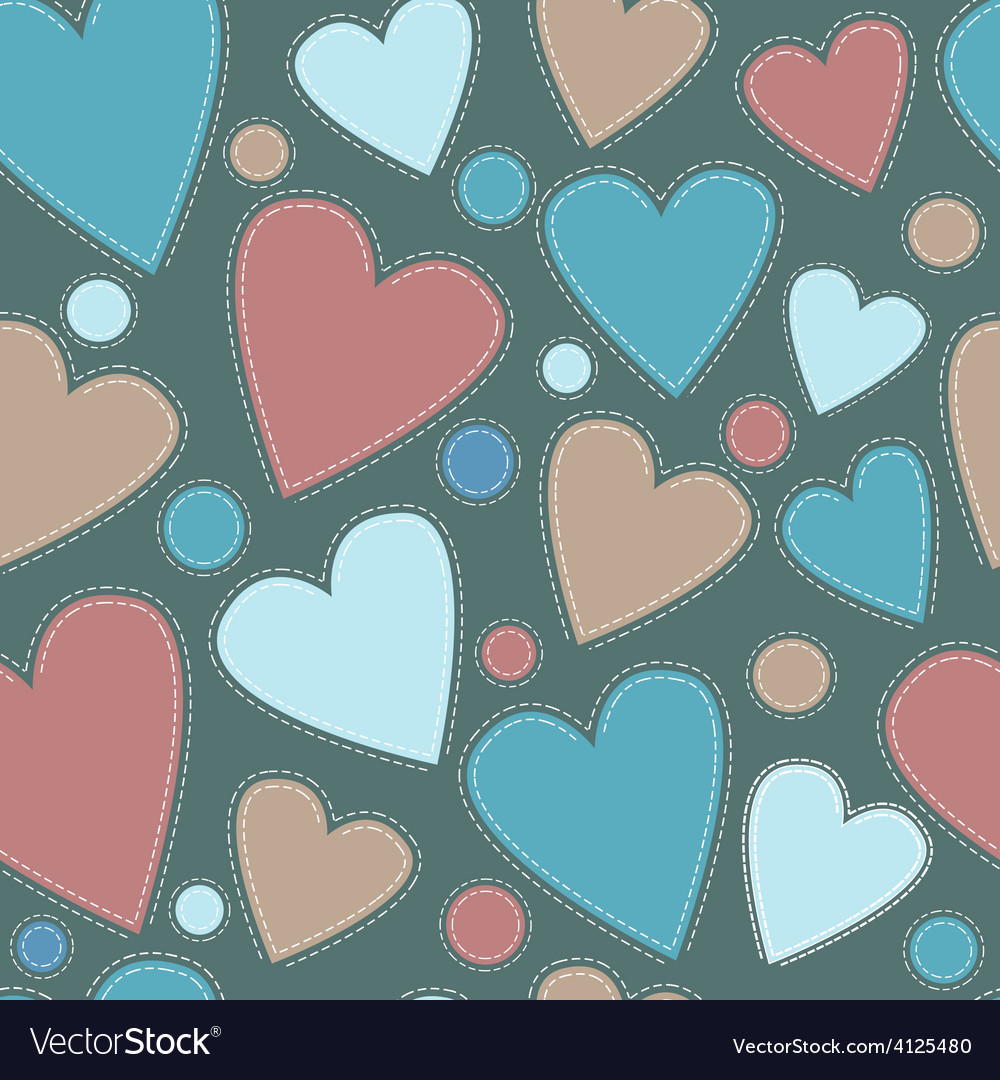 Background multicolored suede heart vector | Price: 1 Credit (USD $1)