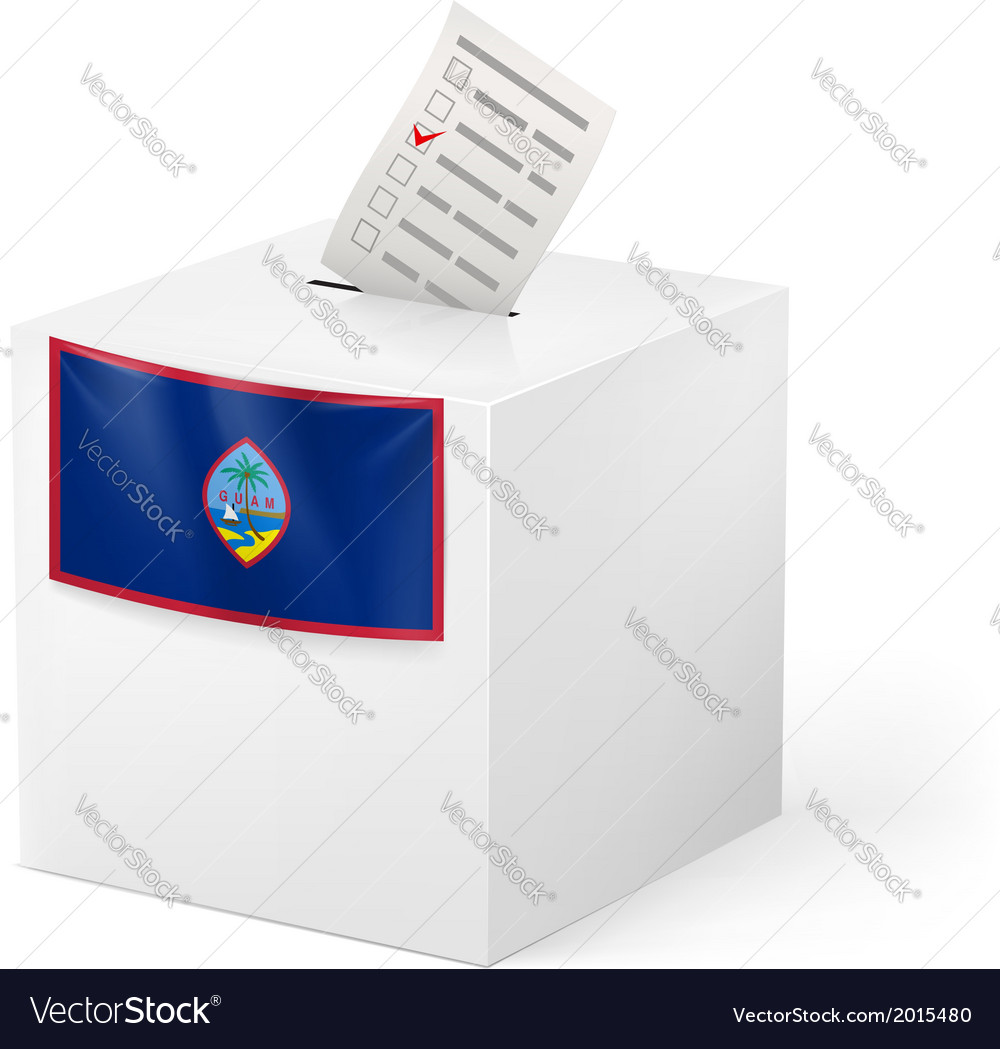 Ballot box with voting paper guam vector | Price: 1 Credit (USD $1)