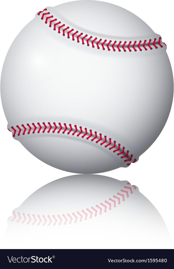 Baseball ball vector | Price: 1 Credit (USD $1)