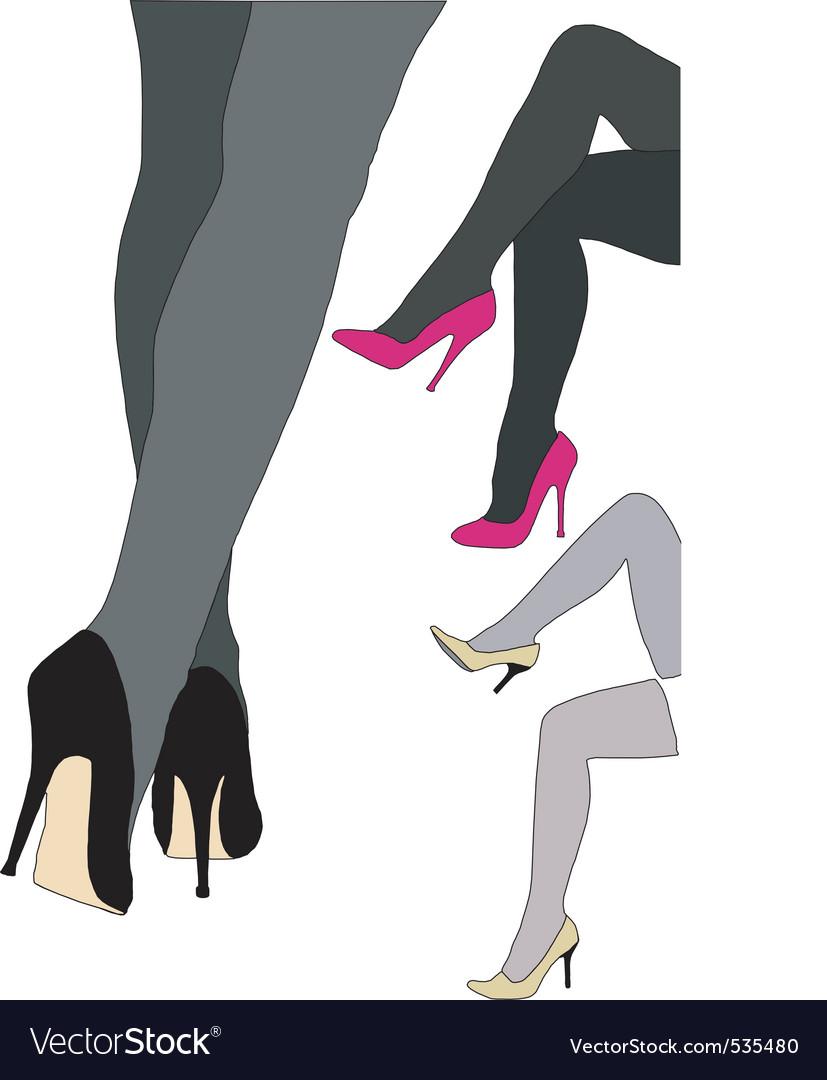 Beautiful high heels vector | Price: 1 Credit (USD $1)