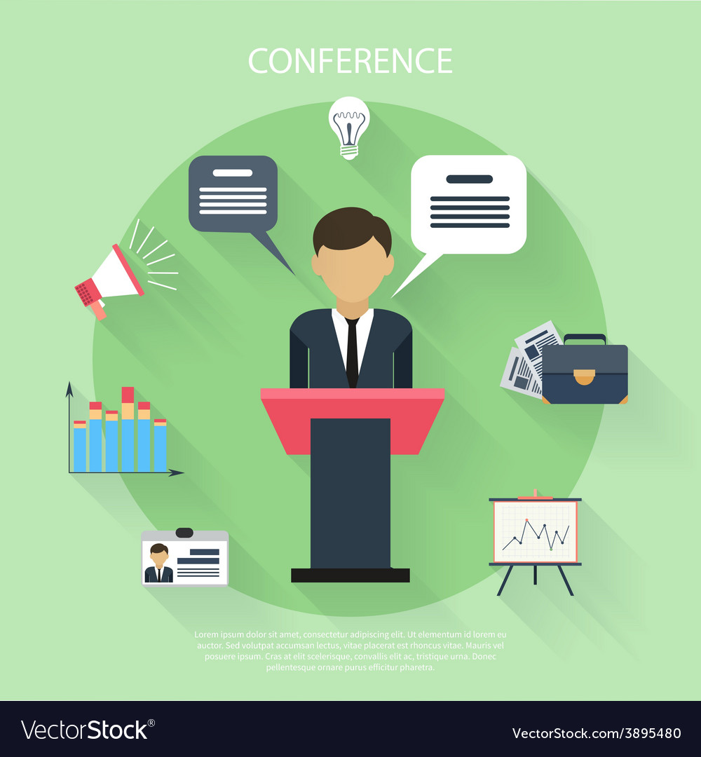 Concept for business conference and presentation vector   Price: 1 Credit (USD $1)