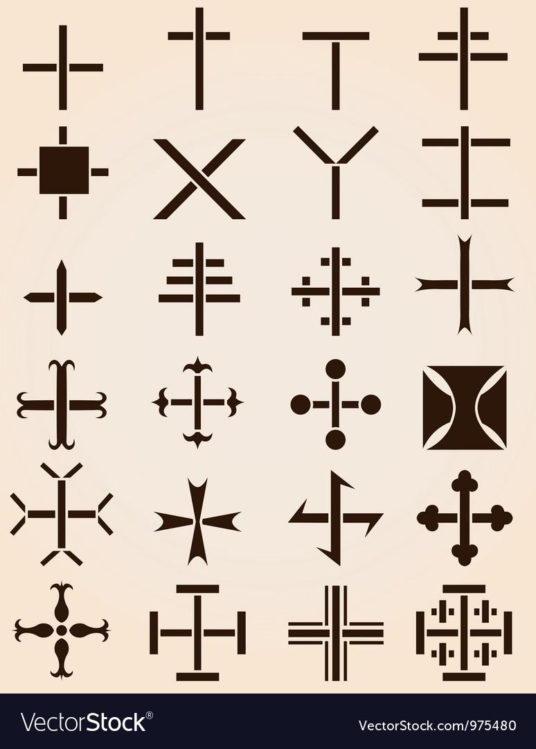 Crosses set vector   Price: 1 Credit (USD $1)