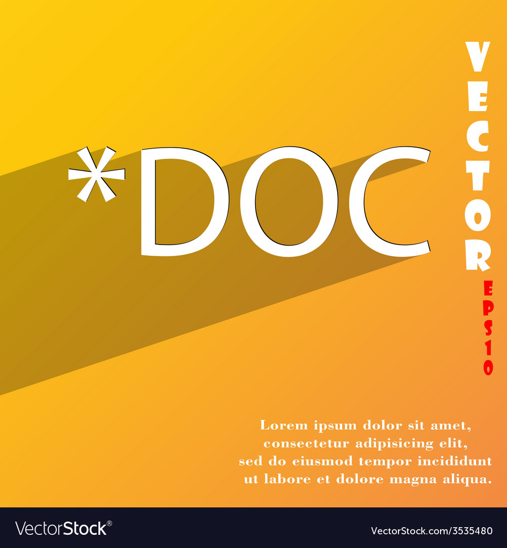 Doc file extension icon symbol flat modern web vector | Price: 1 Credit (USD $1)