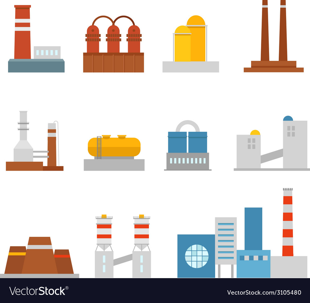 Factory vector | Price: 1 Credit (USD $1)