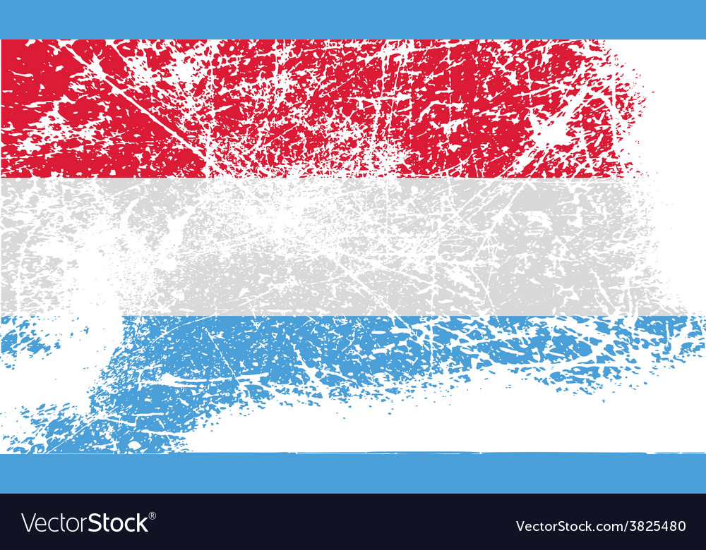 Flag of luxembourg with old texture vector | Price: 1 Credit (USD $1)