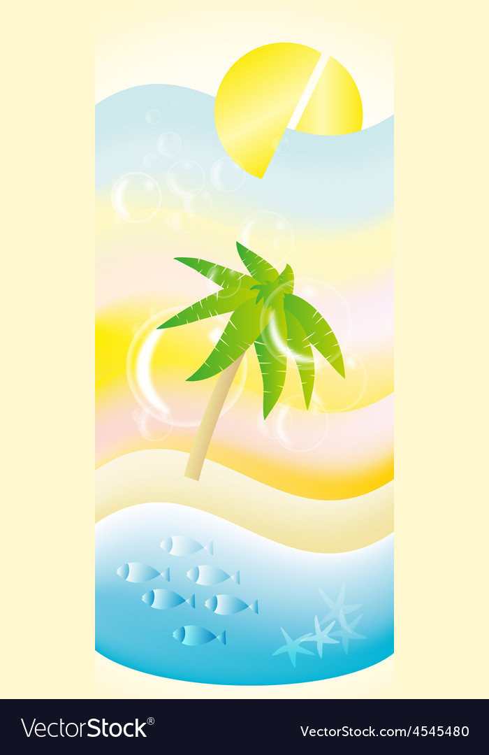 Holiday beach coctail vector | Price: 1 Credit (USD $1)