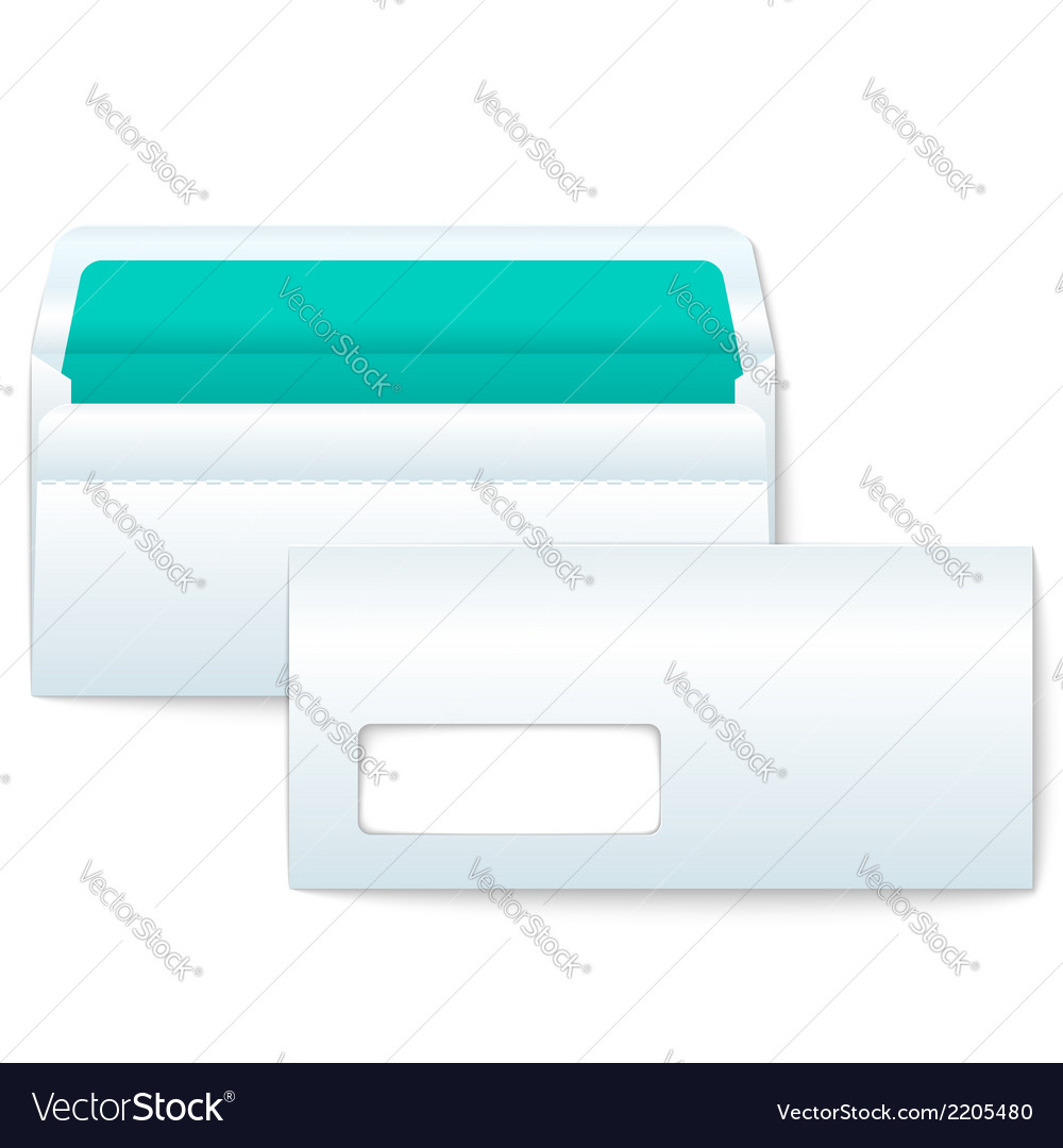 Opened and closed blank envelopes vector | Price: 1 Credit (USD $1)