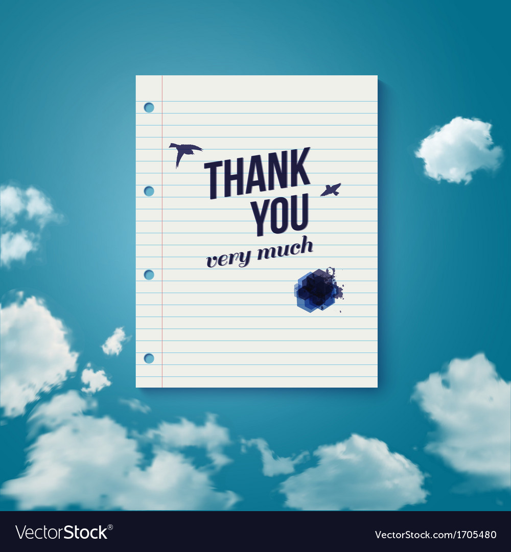 Thank you card for different occasions vector | Price: 1 Credit (USD $1)
