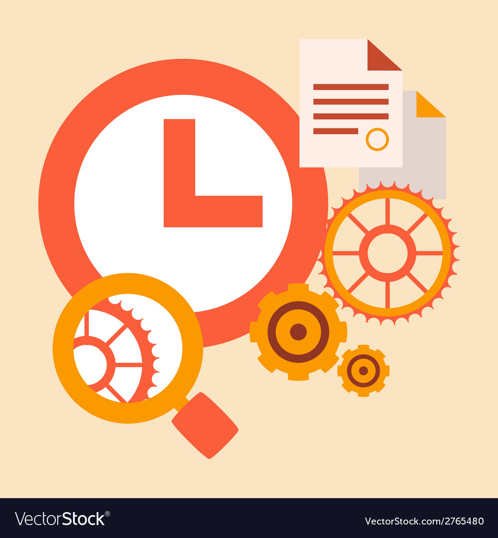 Time study and research tools and systems vector | Price: 1 Credit (USD $1)