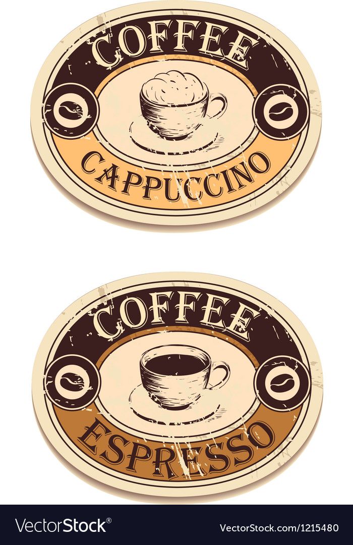 Vintage label coffee vector | Price: 1 Credit (USD $1)