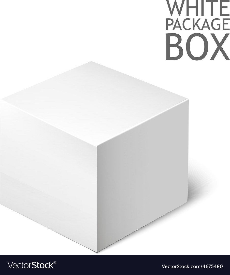 White package square cardboard package box vector | Price: 1 Credit (USD $1)