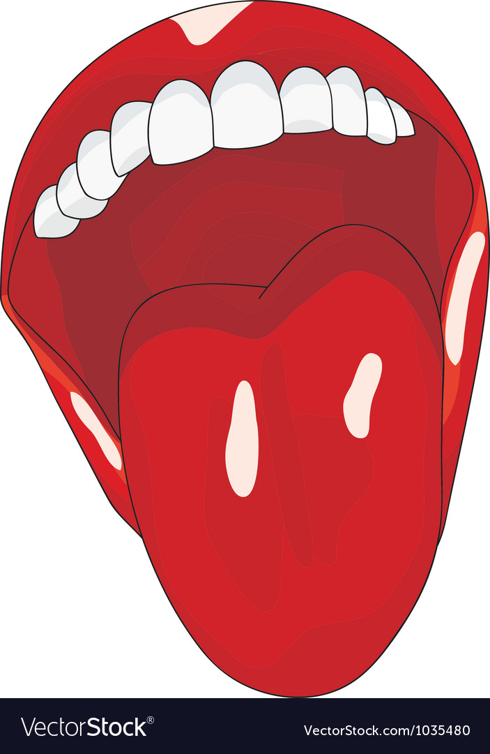 Womens open mouth with tongue lolling vector | Price: 1 Credit (USD $1)