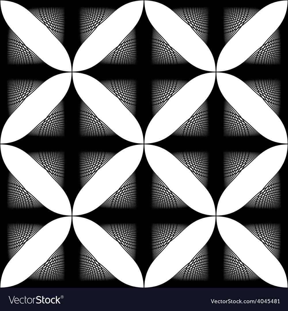 Black and white abstract vintage seamless vector | Price: 1 Credit (USD $1)