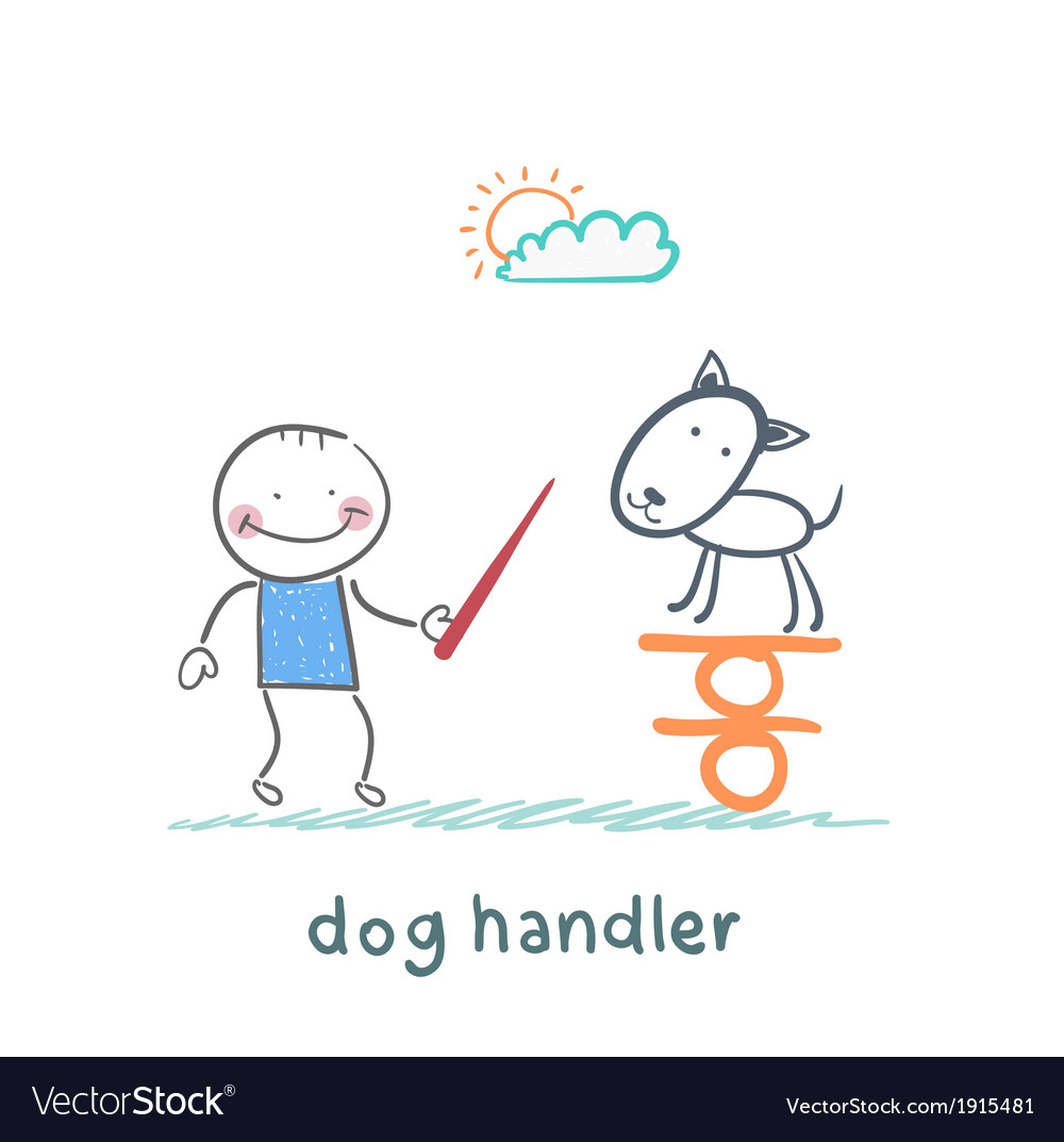 Canine teaches the dog to keep the balance vector | Price: 1 Credit (USD $1)