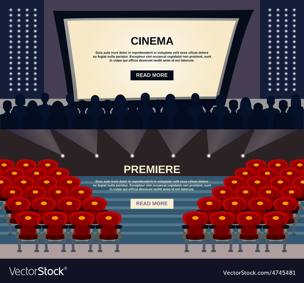 Cinema banner set vector | Price: 1 Credit (USD $1)