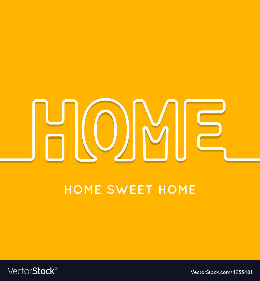 Home icon with shadow in orange background vector | Price: 1 Credit (USD $1)