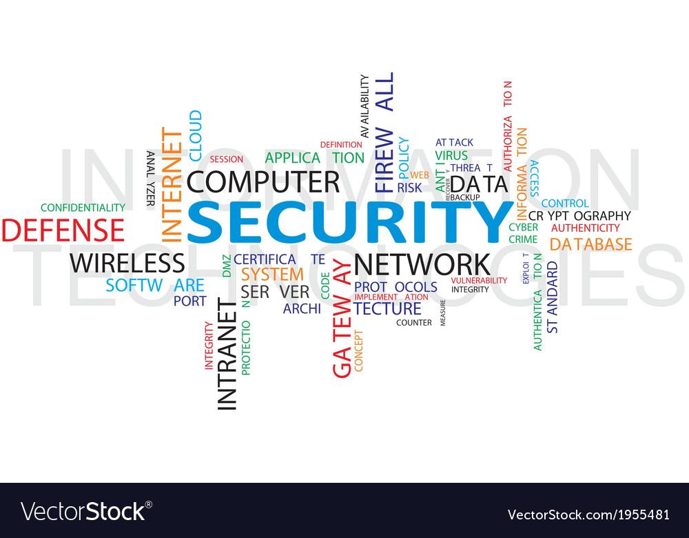 It security wordcloud vector | Price: 1 Credit (USD $1)