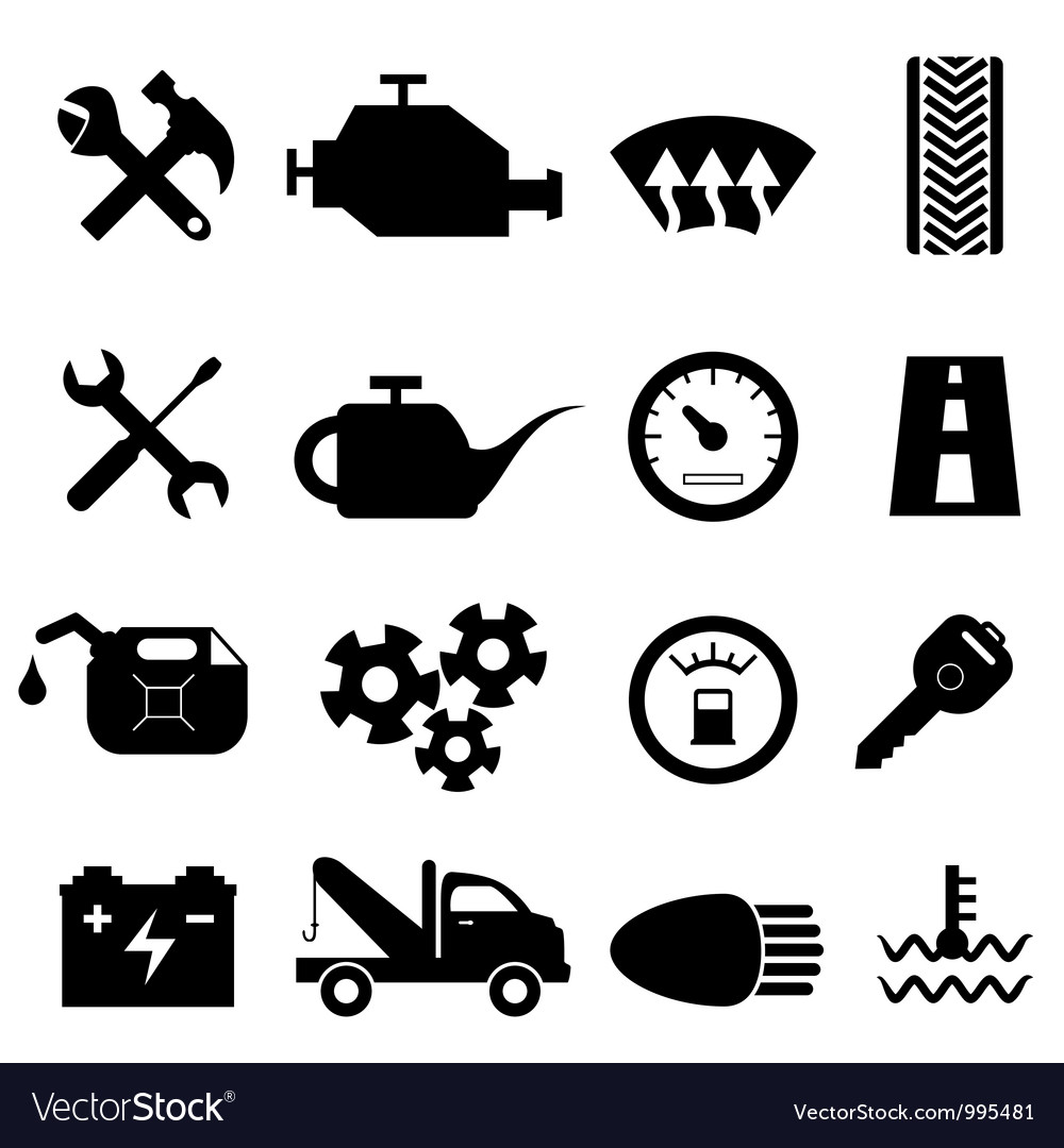 Mechanic workshop icons vector | Price: 1 Credit (USD $1)